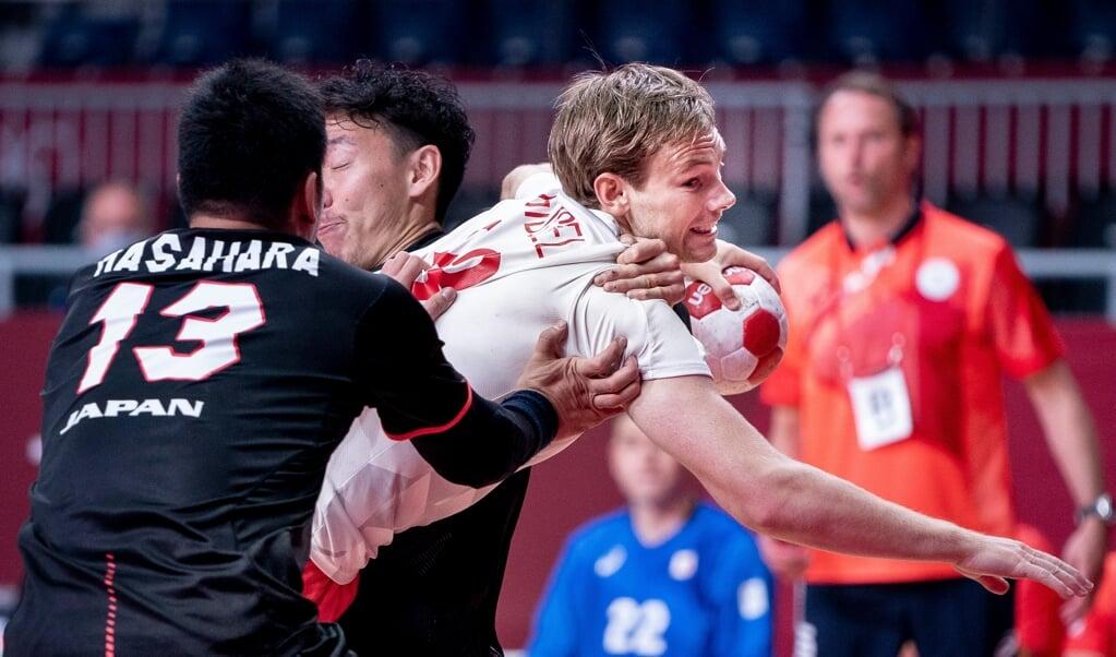 Mathias Gidsel og Danmark åbnede OL med en sejr.  ( Liselotte Sabroe/Scanpix)