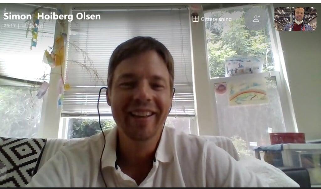 Vi fangede Simon Høiberg Olsen via Skype.  ( Ruwen Möller)