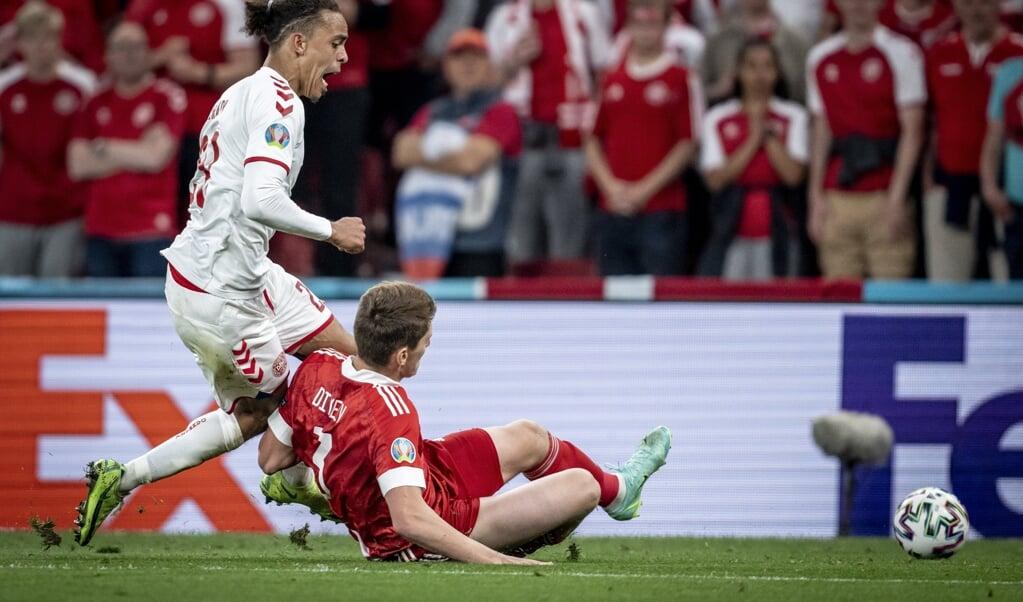 Til kampen mellem Danmark og Rusland blev 62 smittede med coronavirus i relation til kampen.  ( Mads Claus Rasmussen/Ritzau Scanpix)