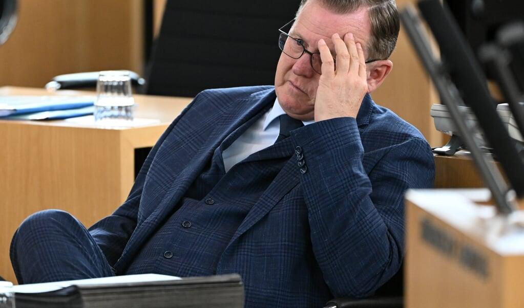 Bodo Ramelow er den eneste regeringschef i en tysk delstat fra Die Linke.   (Martin Schutt/dpa.)