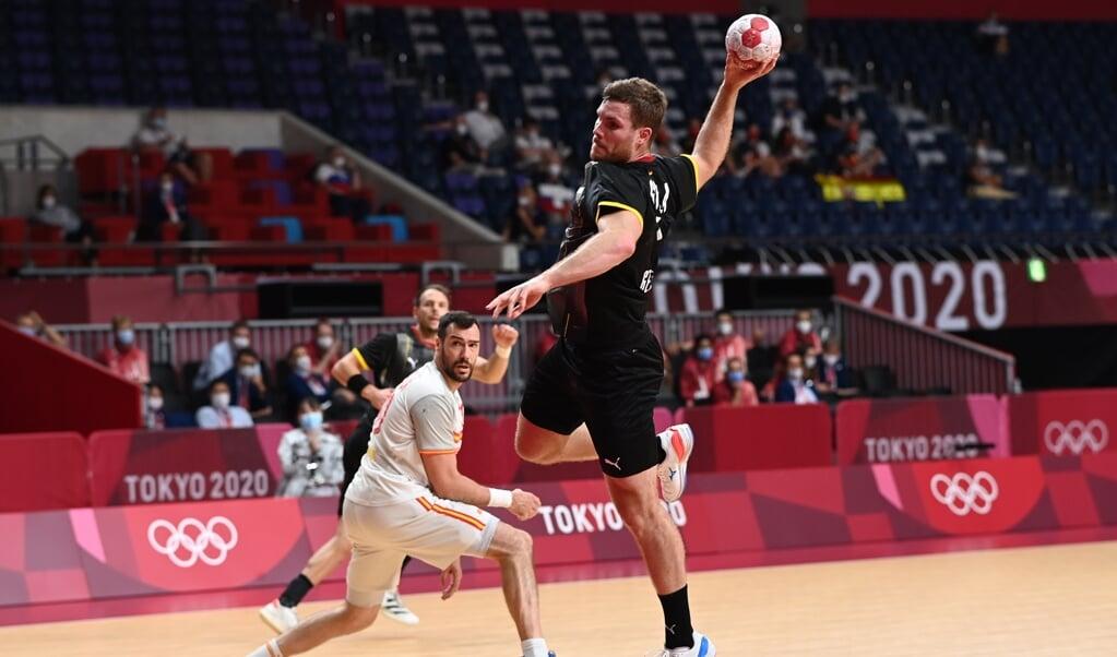 Johannes Golla traf dreimal bei drei Versuchen gegen Spanien.  ( dpa)