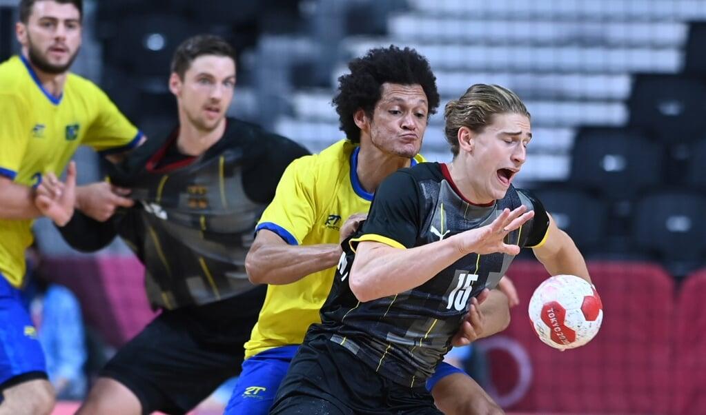 Der gebürtige Flensburger Juri Knorr zeigte gegen Brasilien eine gute Leistung.  ( dpa)