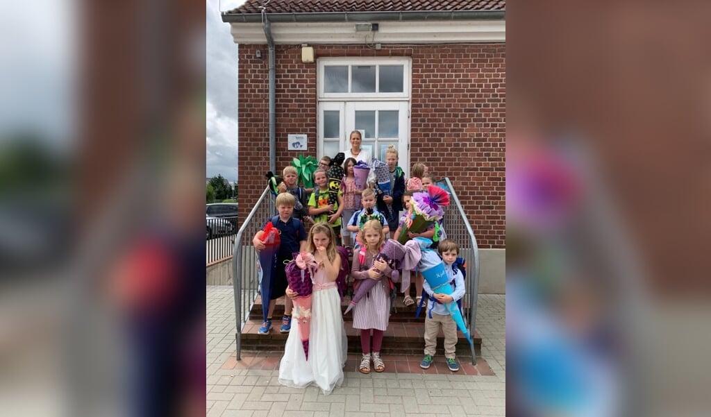 Den nye 1. klasse på Satrup Danske Skole.  ( Melanie Schlüter-Jessen)