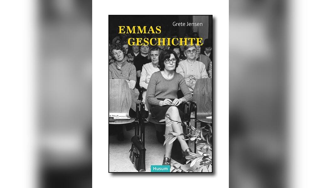 Grete Jensen på første parket. Bogens forside:  (Husum Verlag)