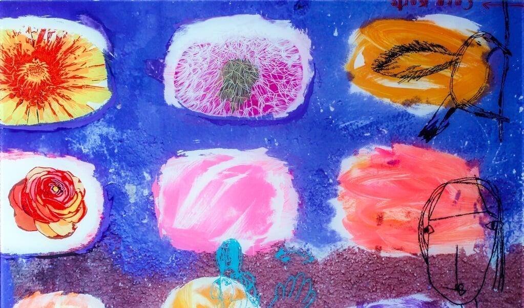 Maleri af den tyske kunstner Cora Korte.  ( Grænselandsudstillingen)