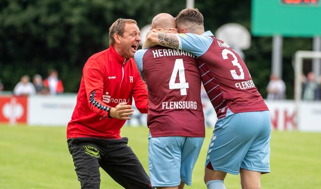 Der SC Weiche Flensburg 08 hat die Hürde Oldenburger SV souverän gemeistert und kommt dem Jubel wie gegen Holstein Kiel einen Schritt näher.  (Arcvhivfoto)
