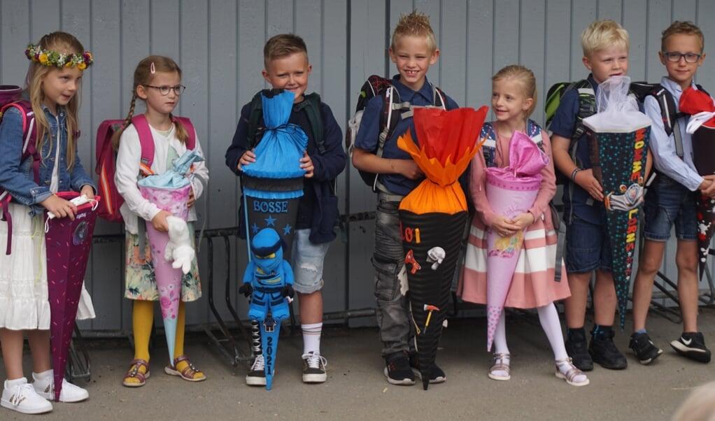 Den nye 1. klasse på Risum Skole/Risem Schölj.  (Privatfoto)