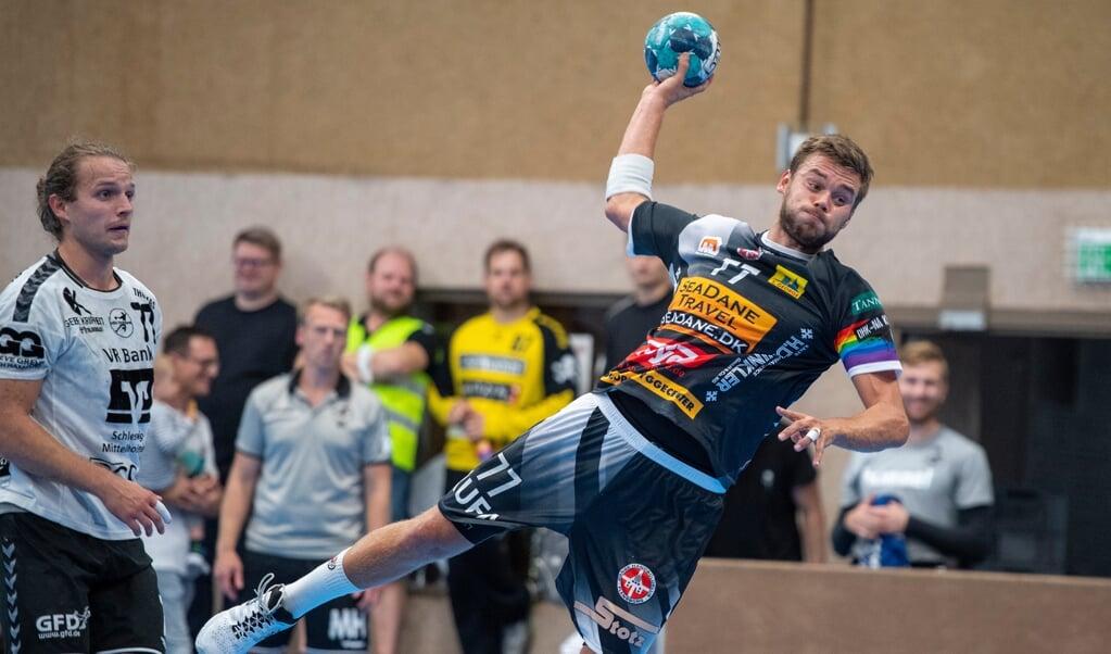 DHK-stregspiller Marcel Möller var en konstant trussel mod Schwerin-forsvaret.  (Arkivfoto)