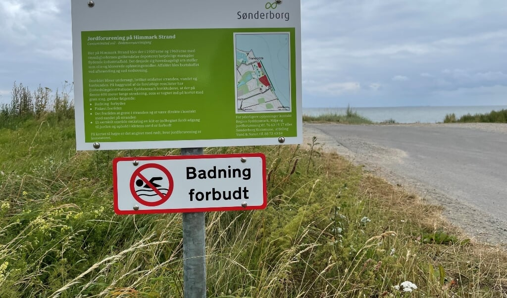 Danfoss forurening på Himmark strand.  Arkivfoto:   (Mette Munch Jørgensen)