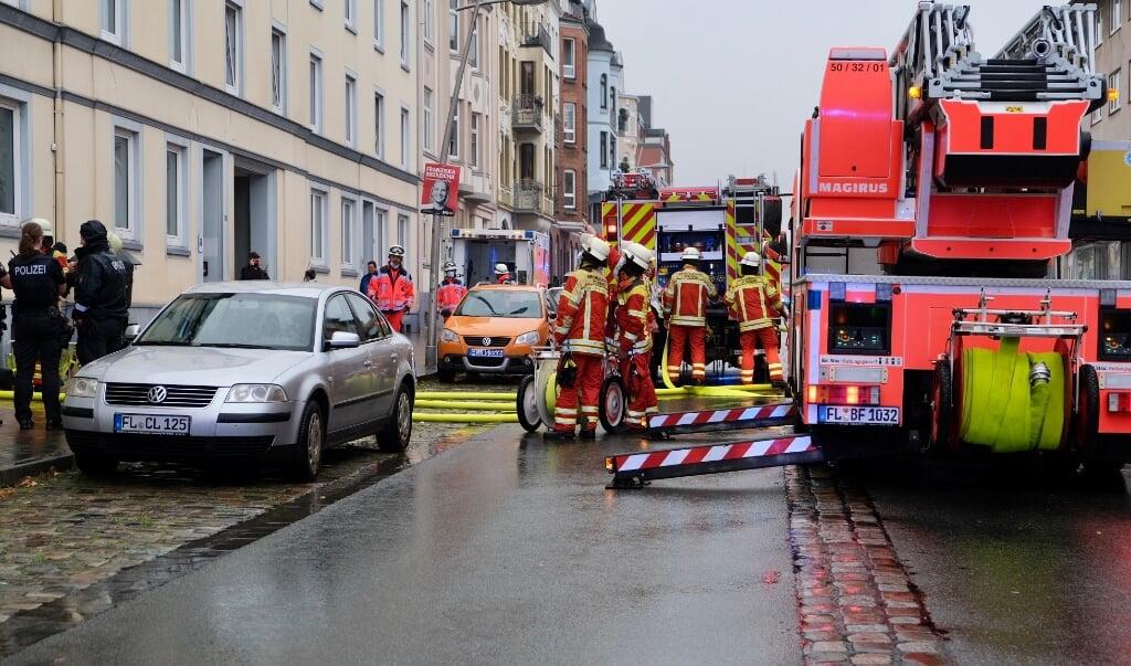 Aabenraagade måtte spærres for al trafik.   (Heiko Thomsen)
