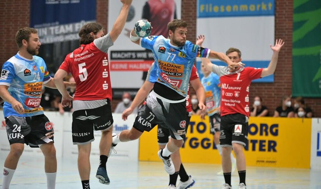 Marcel Möller traf sechs Mal gegen Stralsund.  ( Tim Riediger)