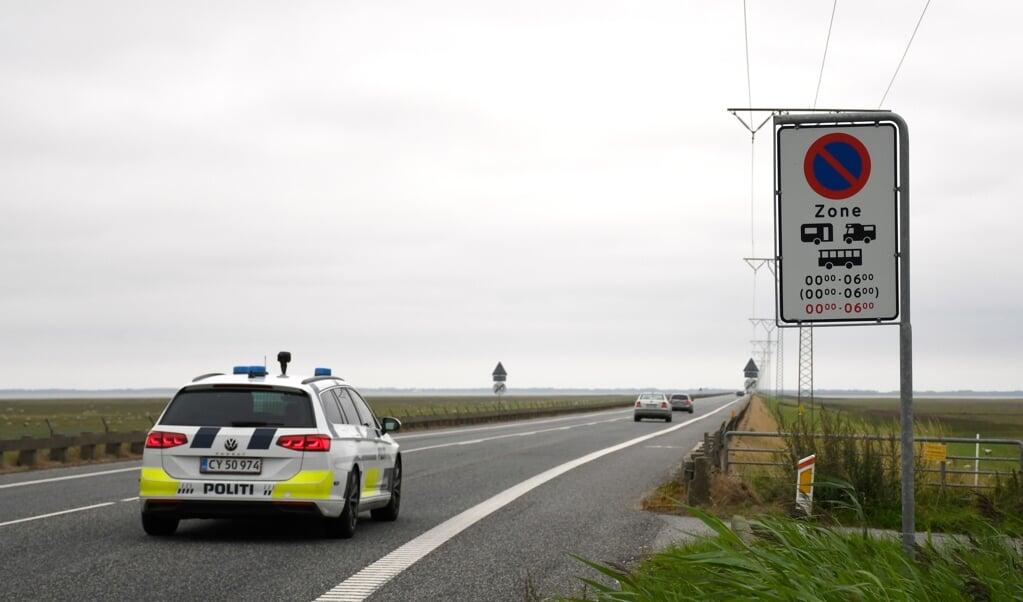 Der køres ofte for stærkt på Rømø-dæmningen.   (Uwe Iwersen)
