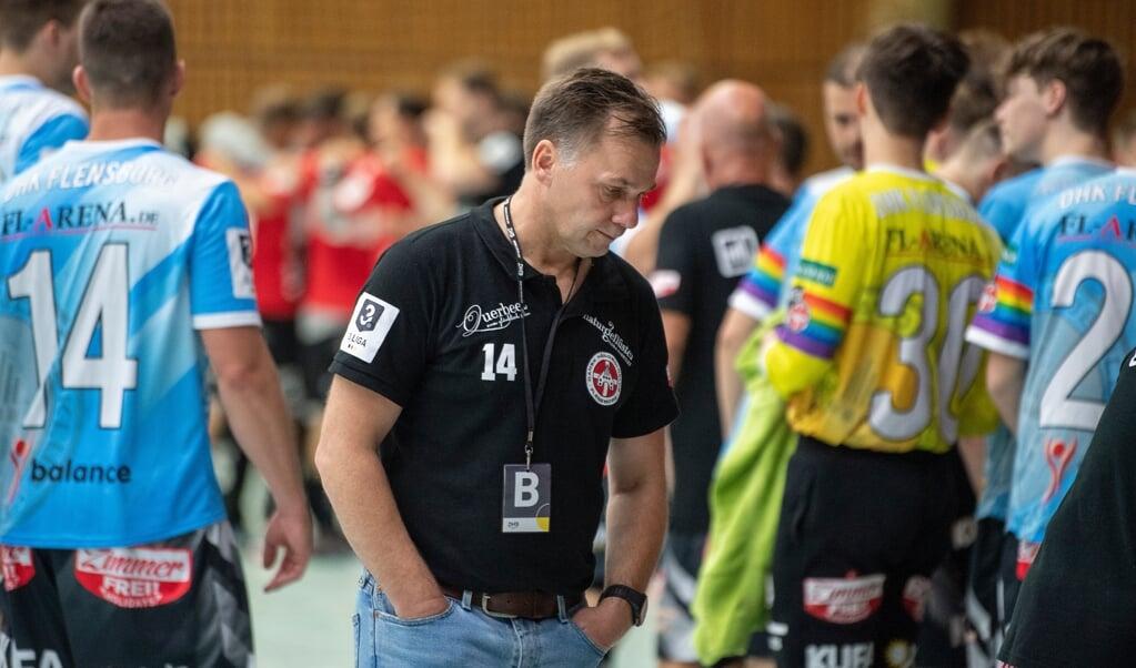 Træner Kai Nielsen og DHK tabte kamp nummer to i træk.  ( Tim Riediger)