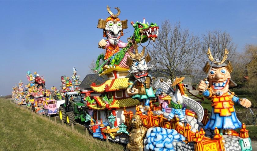 Traditiegetrouw is er in Ossenisse op de zondag na carnaval, dit keer op 1 maart, weer een grote optocht te bewonderen.