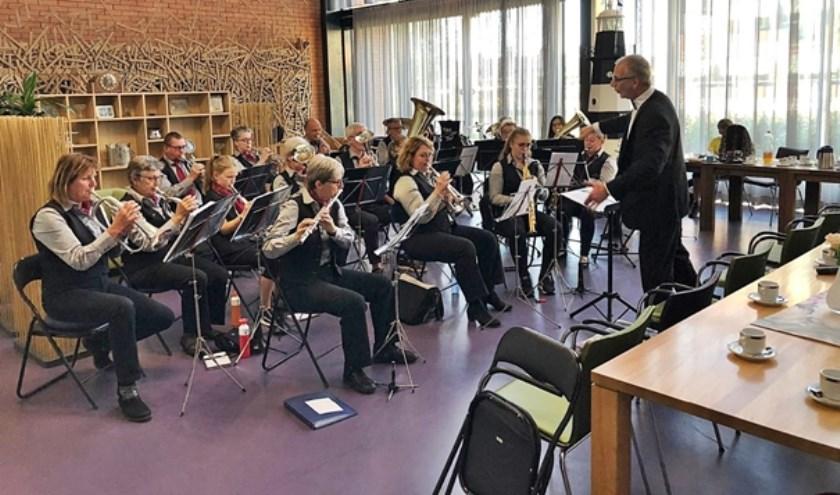 Muziekvereniging Oefening Baart Kunst verzorgt  zaterdagavond 12 oktober een bevrijdingsconcert in de gymzaal in Hoofdplaat. Foto PR