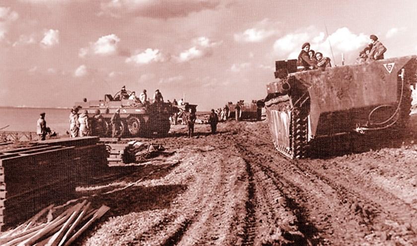 Canadese troepen bij de Braakman