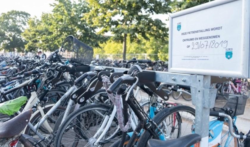 Een honderdtal fietsen is nog niet opgehaald. Foto Stad Gent