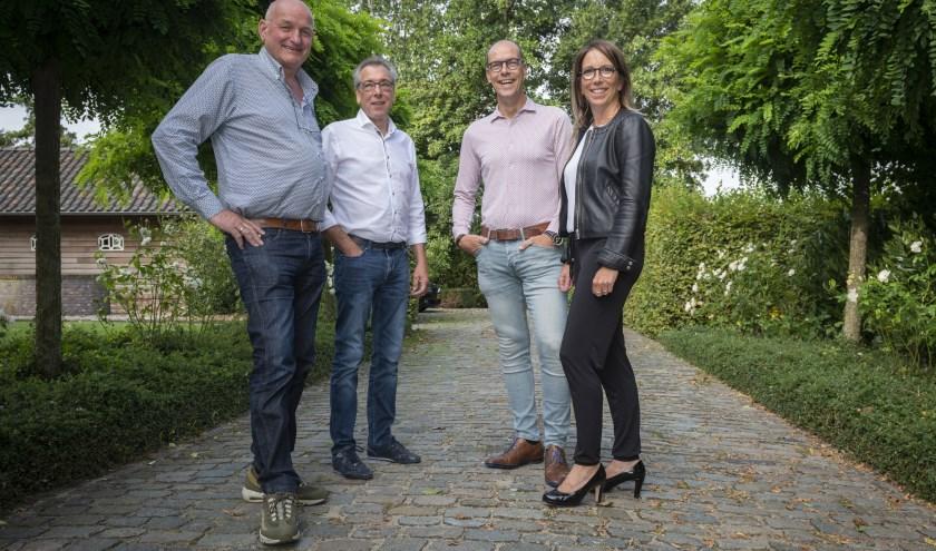 Hubert van de Vijver, Eddy van Damme, Stefan Poppe en Ilze Poppe. Foto Freddy Dirickx