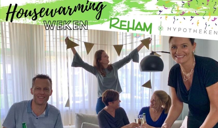 Reham Hypotheken is gestart. Dat wordt gevierd met Housewarminghypotheken.
