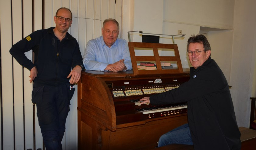 De leden van de Concertencommissie, van links naar rechts: Jan-Kees van Liere, Henk van der Eijk, Niko Fierloos.