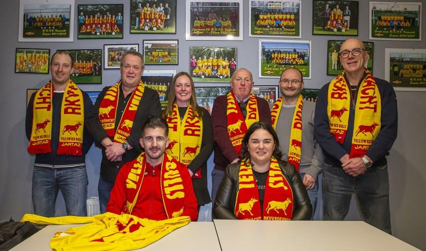 Een groep van enthousiaste clubmensen heeftzich in het jubileumcomité van RKVV Koewacht verenigd.