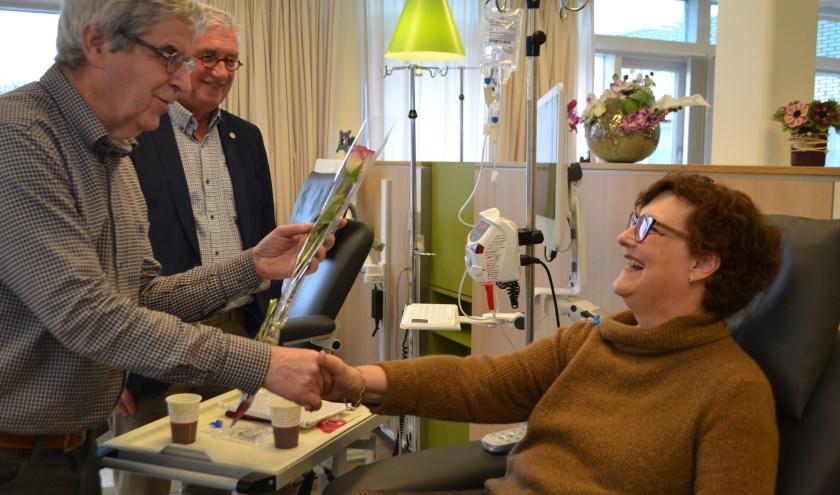 Vrijwilligers van Stichting Palazzoli stonden vorige week stil bij Wereldkankerdag.