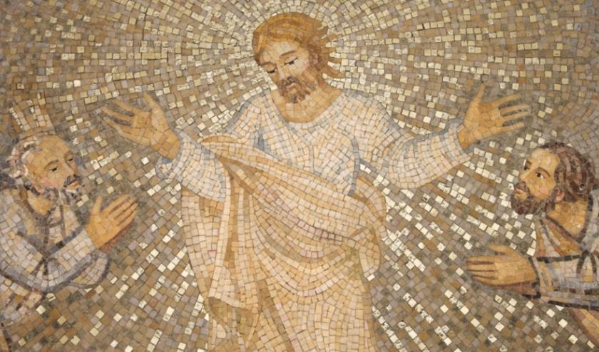 Mozaïek uit de Sint Pietersbasiliek in Rome.