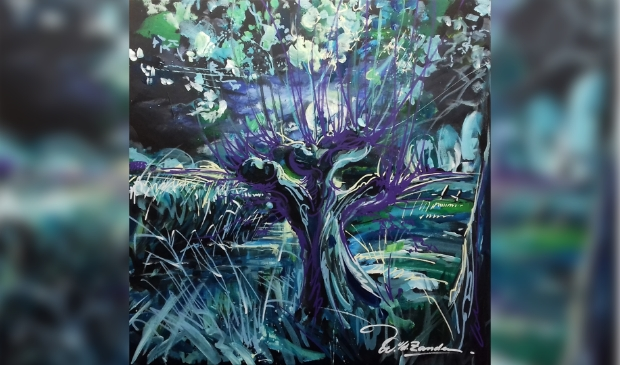 William, Kunstenaar, kunst, Landgoed, Zomeravond, Knotwilg