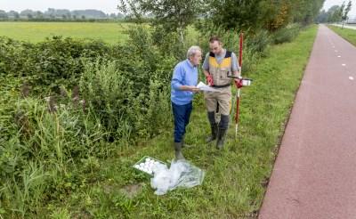 Beeld van een eerder onderzoek nabij een beoogd perceel van de Voedselbank aan de Parallelweg Zuid in Boxtel.