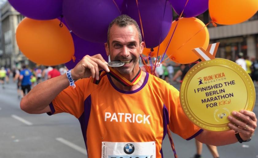Patrick van den Aker is running all over the world voor KiKa en loopt het einde van het jaar een marathon in Londen en Valencia.