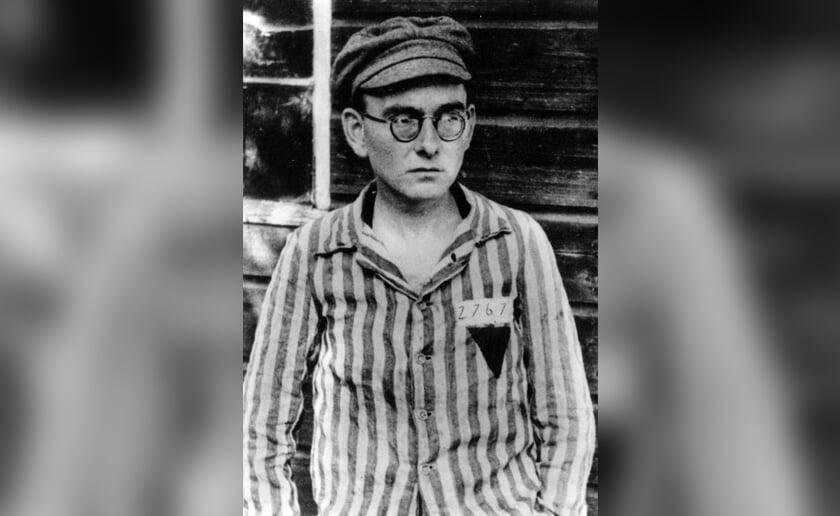 Pater Kapucijn Othmarus-Lips op 29 april 1945 in Dachau na zijn bevrijding op 29 april 1945 (foto: Beeldbank Heemkunde Boxtel)