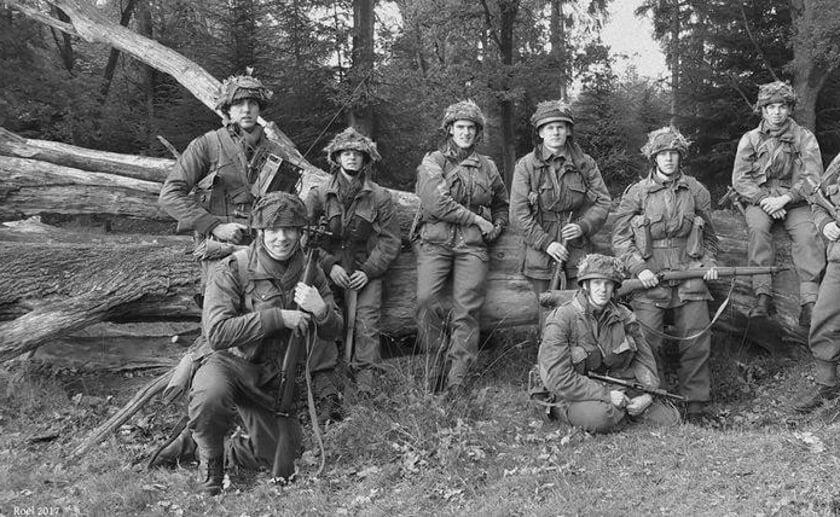 Esch in oorlogstijd. Foto: War Department/privécollectie van Roel Manders.