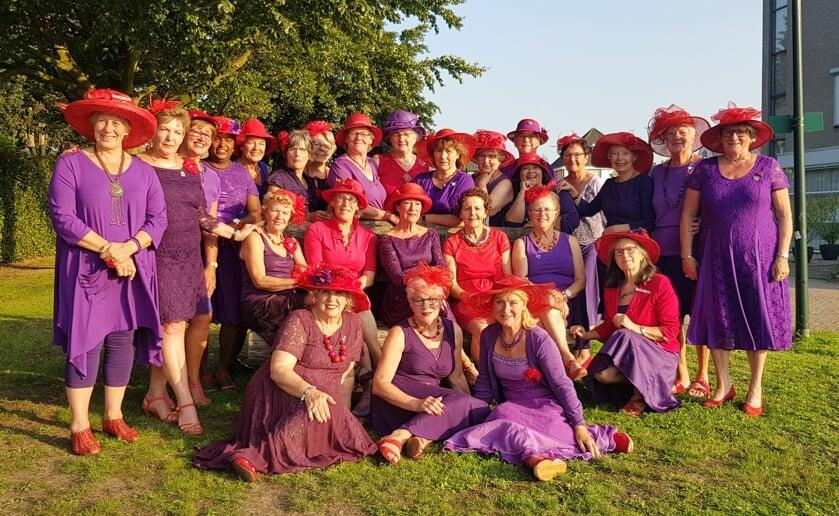"""Onder het motto 'Leef je leven, vergeet je leeftijd"""" maken de Purple Roses uit Boxtel er iedere maand een feestje van."""