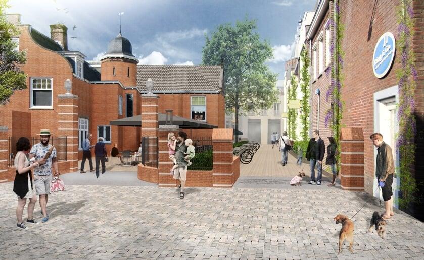 Het ontwerp voor de herinrichting van de Rechterstraat in het centrum van Boxtel. Foto: MTD Landschapsarchitecten