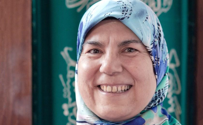 Sevim Atalay (53) kent elk hoekje van de eenvoudige Mevlana-moskee in Boxtel. Foto: Jolanda van Iersel