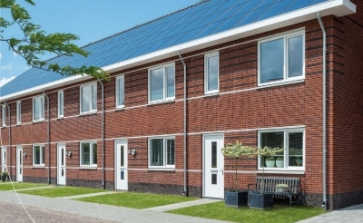 <p>Impressie van de nog te bouwen woningen aan de Rietstok in Gemonde. (Afbeelding: eigen collectie).</p>