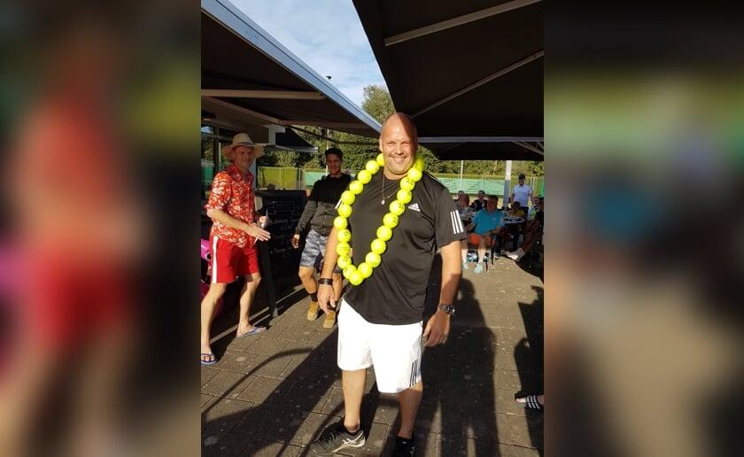 René Verhoeven werd in zijn tenniscarrière al vijfentwintig keer clubkampioen van LTV Munsel.