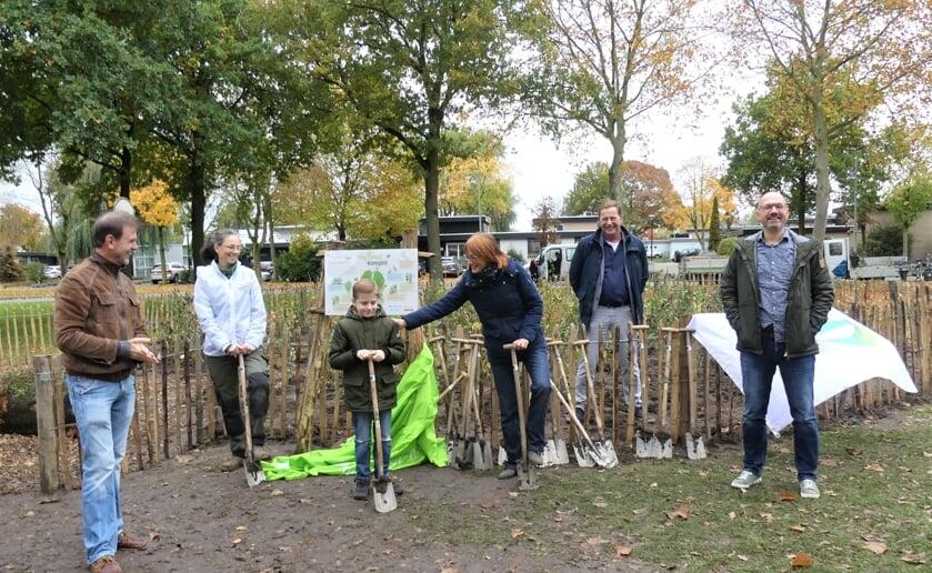 """<p class=""""Fotobijschrift"""" pstyle=""""Fotobijschrift"""">In oktober vorig jaar werd het eerste Tiny Forest in Boxtel geopend aan de Robert Schumanlaan. (Foto: Ad van de Wetering).</p>"""