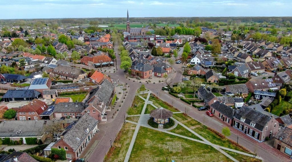 <p>Een luchtfoto van Liempde.</p>