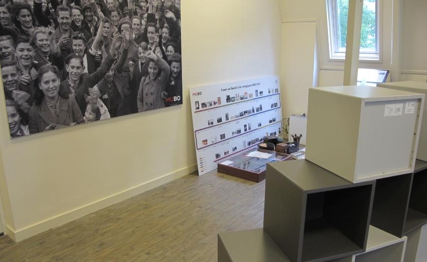 """Impressie van de herinrichting vaste expositie voor het thema """"Oorlog & Vrede"""". Foto: MUBO"""
