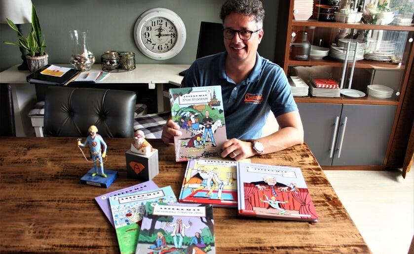 Onlangs lanceerde Ralph Dikmans al weer zijn vijfde stripalbum van antiheld Anders-Man. (Foto: Wendy van Lijssel).