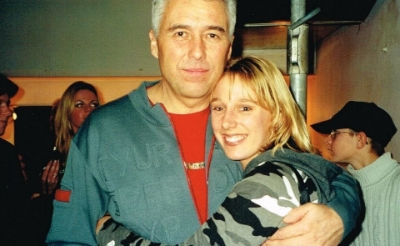 Maayke van Giersbergen en gitarist George Kooymans in 1999. (Foto: eigen collectie).
