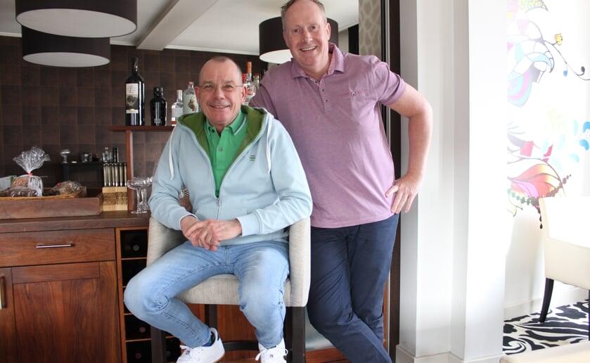 Ondanks dat zij al heel lang geen gasten meer mogen ontvangen blijven Gerie (L) en Edwin positief . Foto Wendy van Lijssel