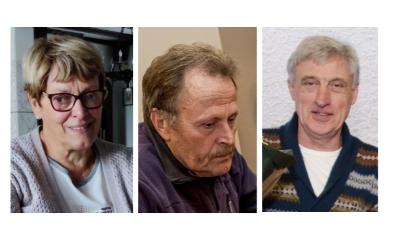 <p>Maria Olislagers, Henk Groenendaal en Hans van Schijndel (v.l.n.r.) uit Esch zijn vanochtend benoemd tot lid in de Orde van Oranje-Nassau. </p>