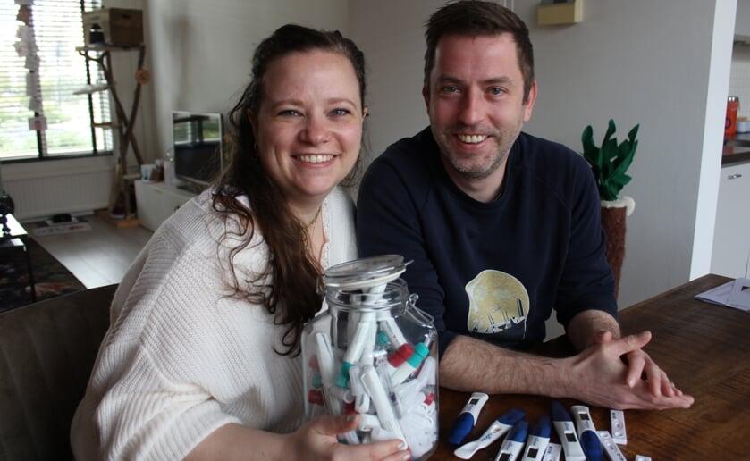 Ashley en Erwin proberen al drie jaar zwanger te worden. Foto Wendy van Lijssel
