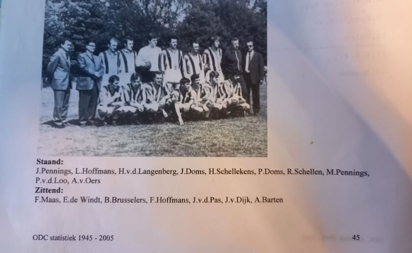 <p>Het eerste elftal van ODC in 1970. (Foto: eigen collectie).</p>