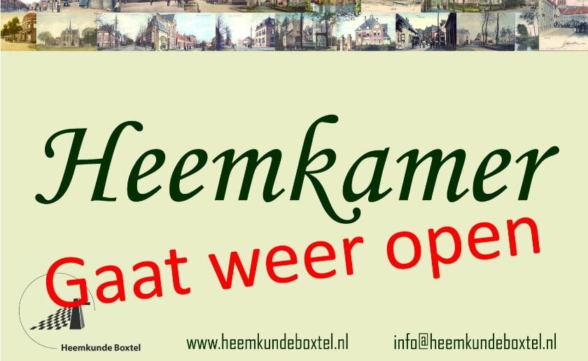 <p>De heemkamer van Heemkunde Boxtel is heropend, aan de Burgakker 4 in de bibliotheek van Boxtel. (Afbeelding: Heemkunde Boxtel).</p>
