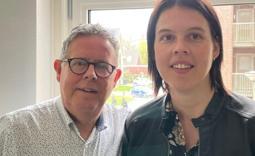<p>Wim Huijbers en zijn dochter Esther dragen samen bij aan de sponsoractie van Patrick van de Aker voor Kika. (Foto: eigen collectie).</p>