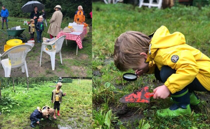 <p>Samen op zoek naar diertjes in het water en de bodem bij de Herenboeren van het Wilhelminapark in Boxtel. Zaterdag 2 oktober kunnen kinderen hieraan meedoen. (Foto: eigen collectie).</p>