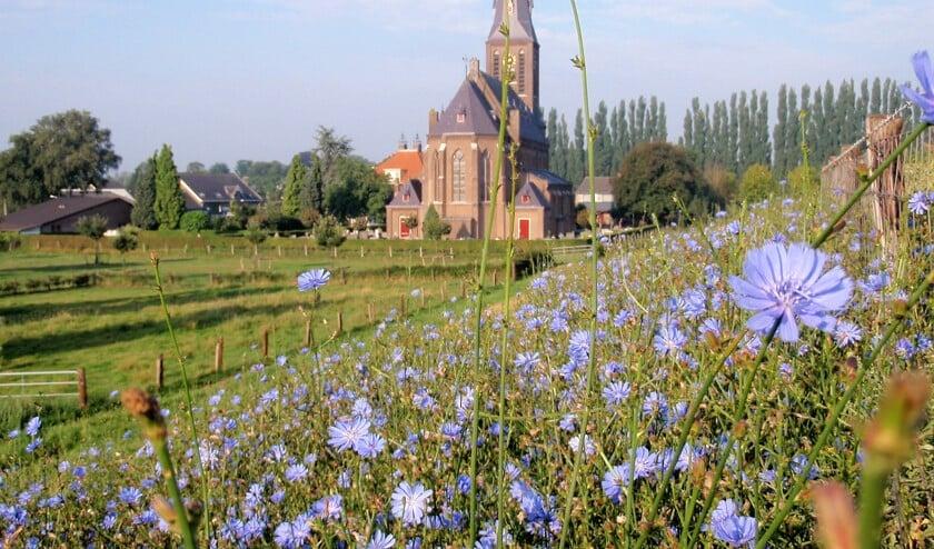 De kerk in Weurt.